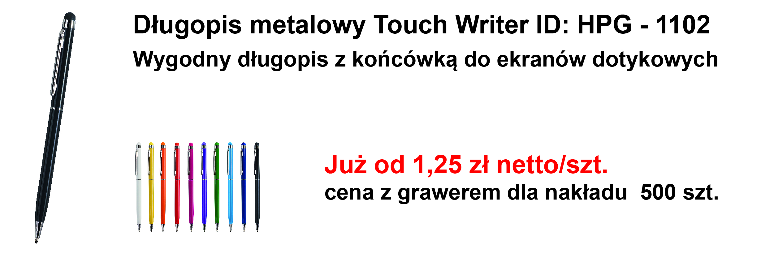 Długopis touch writer